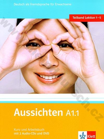 Aussichten A1.1 - německá učebnice s pracovním sešitem + 2 a 1 DVD