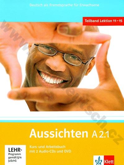 Aussichten A2.1 - německá učebnice s pracovním sešitem + 2 a 1 DVD
