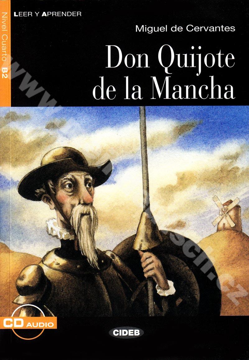 Don Quijote de la Mancha - zjednodušená četba B2 ve španělštině vč. CD