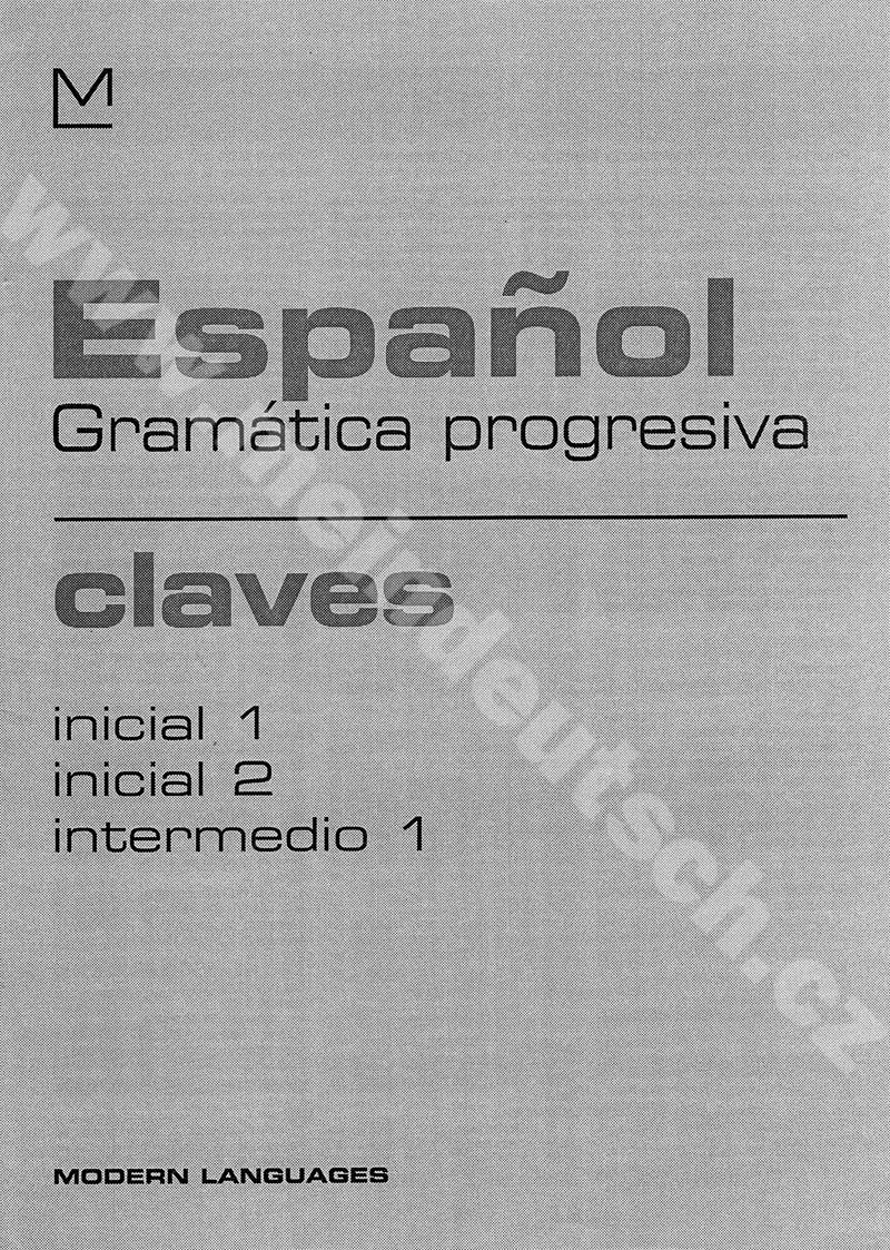 Español Gramática progresiva - claves A1-B1 – klíč k cvičebnici