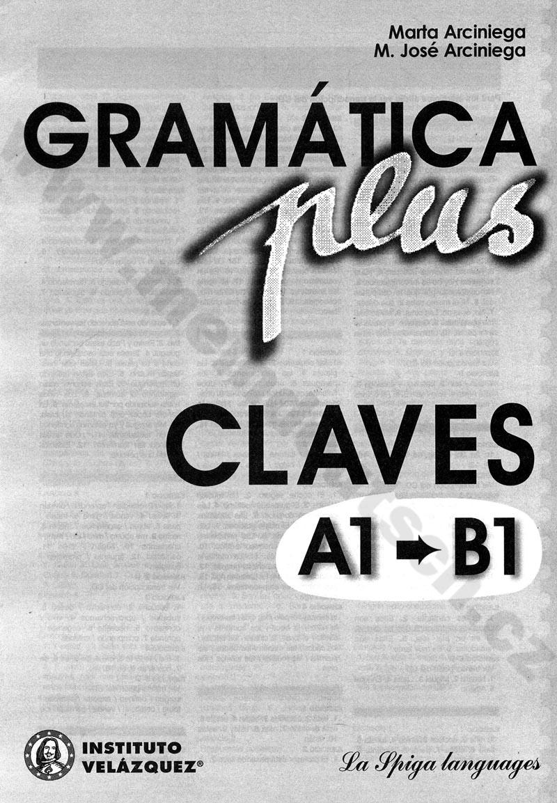 Fotografie Gramática plus A1-B1 – klíč k cvičebnicím španělské gramatiky
