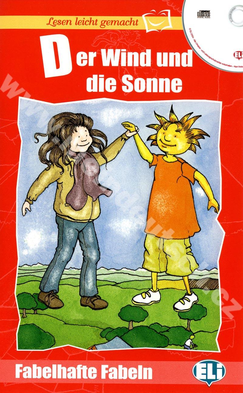 Der Wind und die Sonne - zjednodušená četba v němčině vč. CD pro děti