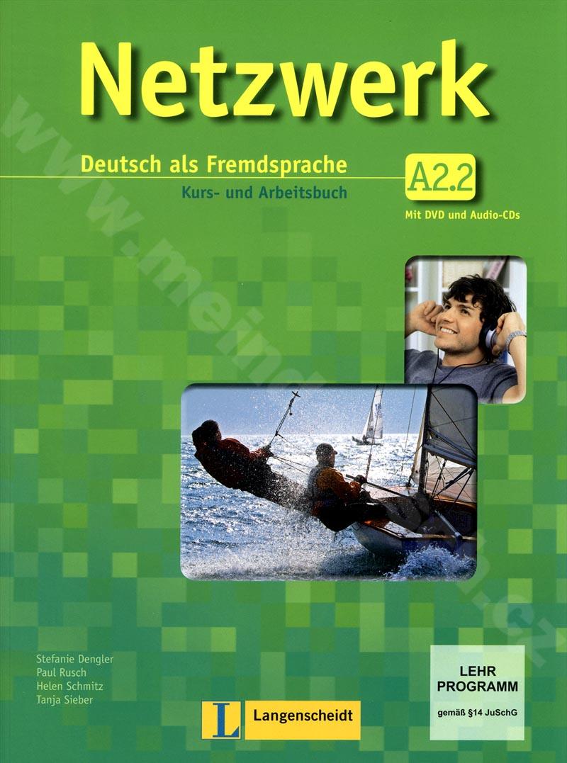 Netzwerk A2.2 - učebnice němčiny a prac. sešit vč. 2 audio-CD a DVD