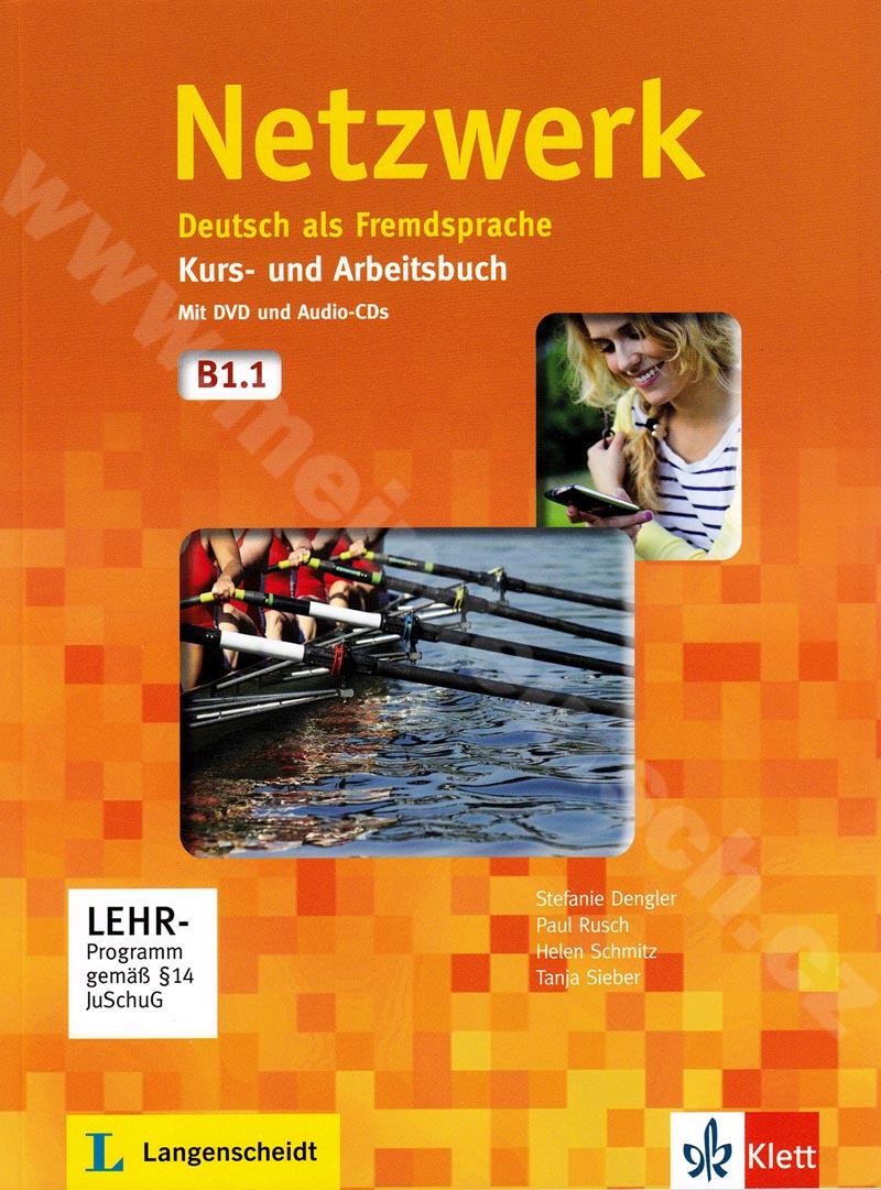 Netzwerk B1.1 - učebnice němčiny a prac. sešit vč. 2 audio-CD a DVD