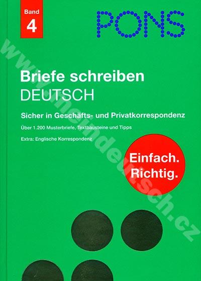 PONS - Briefe schreiben - příručka německé korespondence (Band 4)