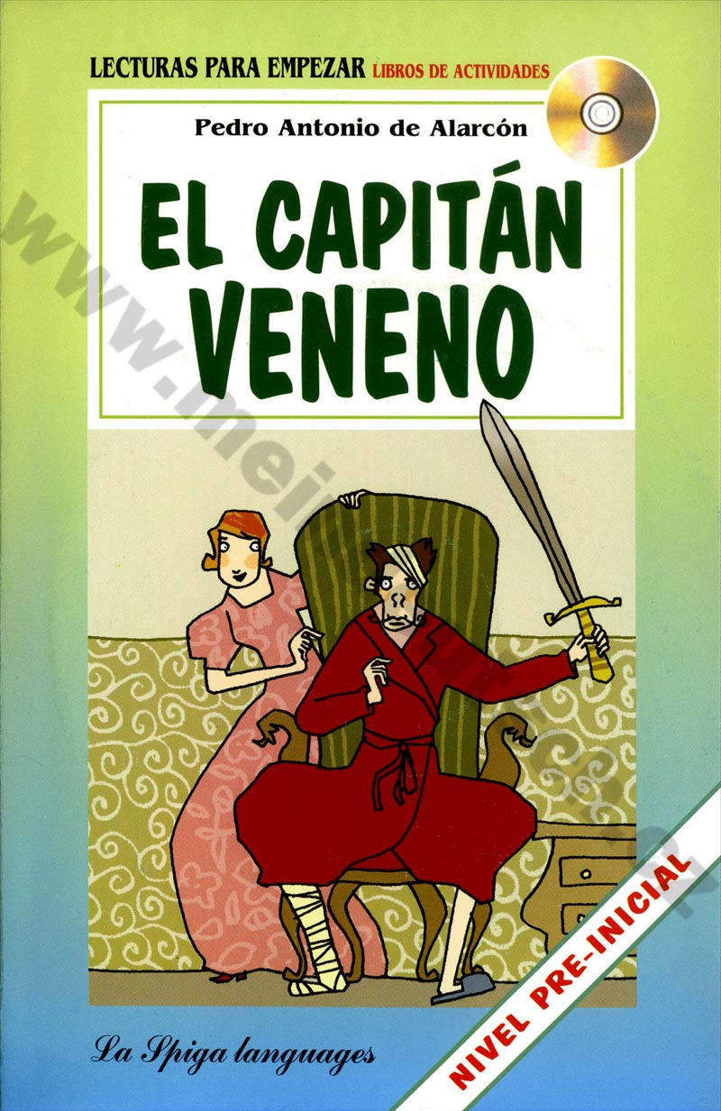 El capitán Veneno - španělská zjednodušená četba A1 s CD